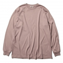 AURALEE / オーラリー | LUSTER PLAITING L/S TEE - Light Brown