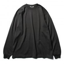 AURALEE / オーラリー | LUSTER PLAITING L/S TEE - Ink Black