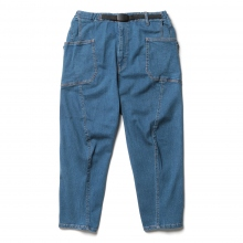 GRIP SWANY / グリップスワニー | JOG 3D WIDE CAMP PANTS - Light Indigo