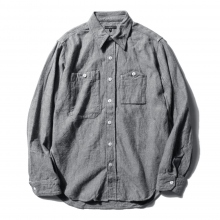 【Point 10% 9/29まで】ENGINEERED GARMENTS | Work Shirt - Solid Flannel - H.Grey