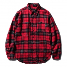 ENGINEERED GARMENTS | Work Shirt - Plaid Flannel - Red / Black