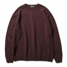AURALEE / オーラリー | COTTON WOOL CASHMERE KNIT P/O - Bordeaux