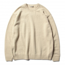 AURALEE / オーラリー | COTTON WOOL CASHMERE KNIT P/O - Beige