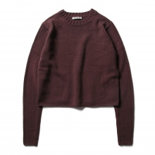 AURALEE / オーラリー | COTTON WOOL CASHMERE KNIT P/O (レディース) - Top Bordeaux