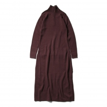 AURALEE / オーラリー | COTTON WOOL CASHMERE KNIT ONE-PIECE (レディース) - Top Bordeaux
