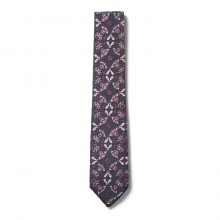 ENGINEERED GARMENTS / エンジニアドガーメンツ | Neck Tie - Floral Jacquard - Nvy/Red Small
