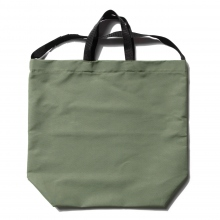 ENGINEERED GARMENTS / エンジニアドガーメンツ | Carry All Tote w/ Strap - Cotton Double Cloth - Olive