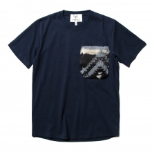 HABANOS / ハバノス | BOA-POCKET S/SL Tee - Navy