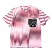 HABANOS / ハバノス | BOA-POCKET BORDER  S/SL Tee - Red