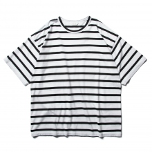 WELLDER / ウェルダー | Wide Fit T-shirt - White Black