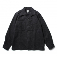 South2 West8 / サウスツーウエストエイト | One-up Shirt - C/W Mole Cloth - Navy / Dobby