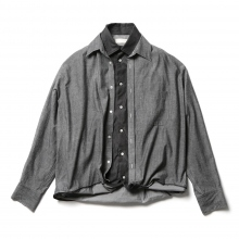 NEON SIGN / ネオンサイン | Sandwich Denim Shirts - Black