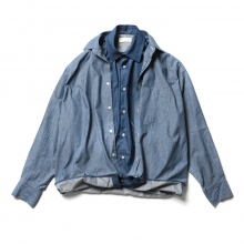 NEON SIGN / ネオンサイン | Sandwich Denim Shirts - Indigo