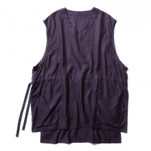 URU / ウル | COTTON CUPRA VEST - Purple