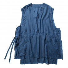 URU / ウル | COTTON CUPRA VEST - Blue