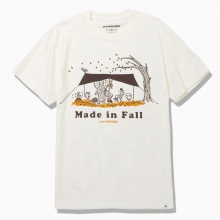 and wander / アンドワンダー | made in fall printed T - Off White