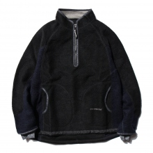 and wander / アンドワンダー | air wool pullover - Black