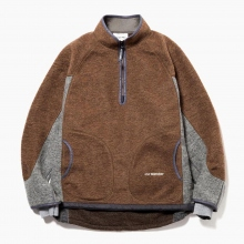 and wander / アンドワンダー | air wool pullover - Brown