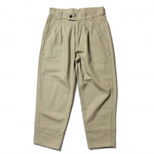 URU / ウル | COTTON HEAVY DRILL / 1 TUCK PANTS - Khaki