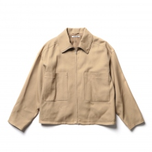 AURALEE / オーラリー | WOOL SERGE ZIP-UP BLOUSON - Beige
