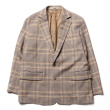 AURALEE / オーラリー | WOOL SERGE CHECK JACKET - Beige Glen Check
