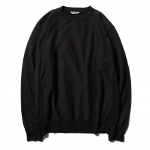 AURALEE / オーラリー | SUPER HIGH GAUGE SWEAT P/O - Black