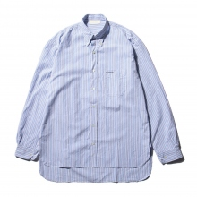"NEON SIGN / ネオンサイン | B.D WORK SHIRT ""BRIT STRIPE"" - Blit Blue"