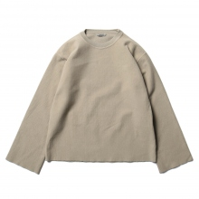 AURALEE / オーラリー | SUPER MILLED SWEAT CUT-OFF P/O (レディース) - Khaki Gray