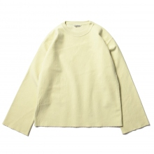 AURALEE / オーラリー | SUPER MILLED SWEAT CUT-OFF P/O (レディース) - Yellow Green