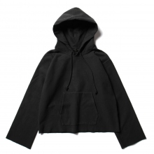 AURALEE / オーラリー | SUPER MILLED SWEAT CUT-OFF P/O PARKA (レディース) - Black