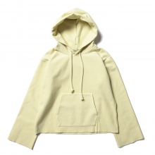 AURALEE / オーラリー | SUPER MILLED SWEAT CUT-OFF P/O PARKA (レディース) - Yellow Green