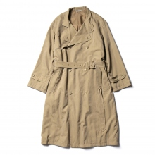 AURALEE / オーラリー | WASHED FINX CUPRO TWILL LONG COAT - Khaki Chambray