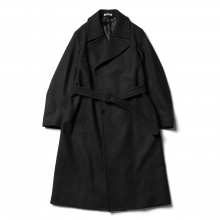 AURALEE / オーラリー | LIGHT MELTON DOUBLE-BREASTED COAT - Top Charcoal