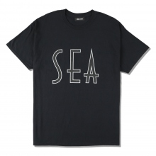 WIND AND SEA / ウィンダンシー | SEA (wavy) T-SHIRTS - Black ☆