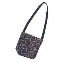 ENGINEERED GARMENTS / エンジニアドガーメンツ | Shoulder Pouch - Floral Jacquard - Nvy/Red Small
