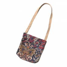 ENGINEERED GARMENTS / エンジニアドガーメンツ | Shoulder Pouch -  Big Floral Jacquard - Navy/Khaki