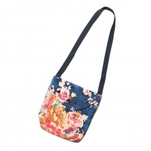 ENGINEERED GARMENTS / エンジニアドガーメンツ | Shoulder Pouch - Big Floral CL Canvas - Navy