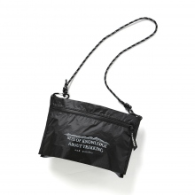 and wander / アンドワンダー | twin pouch set - Black