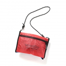 and wander / アンドワンダー | twin pouch set - Red