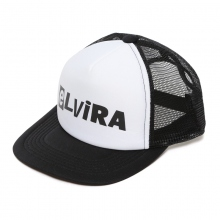 ELVIRA / エルビラ | CUT OUT TRACKER CAP - Black × White