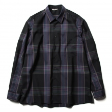 AURALEE / オーラリー | SUPER LIGHT WOOL CHECK SHIRTS - Black Check
