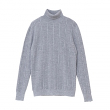 NAISSANCE / ネサーンス|CABLE TURTLE NECK KNIT - Gray