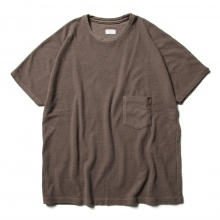 URU / ウル | COTTON PILE S/S TEE - Brown