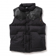 HABANOS / ハバノス | RIPSTOP NYLON DOWN VEST - Black