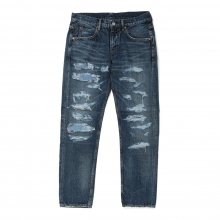 HABANOS / ハバノス | CRASH DENIM PANTS - Indigo