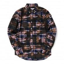 HABANOS / ハバノス | CAMO PRINT FRANNEL SHIRTS - Navy