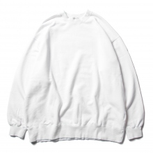 URU / ウル | COTTON FLEECE / CREW NECK OVER SWEAT - White