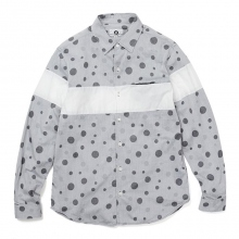 GOODENOUGH / グッドイナフ | JACQUARD SHIRT - Grey / White