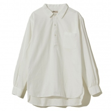 NAISSANCE / ネサーンス | PULLOVER LONG SHIRT - White