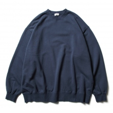 URU / ウル | COTTON FLEECE / CREW NECK OVER SWEAT - Navy